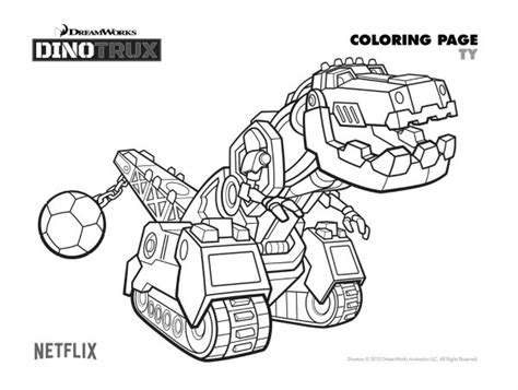 dino truck coloring page free dinotrux ty coloring page mama likes this
