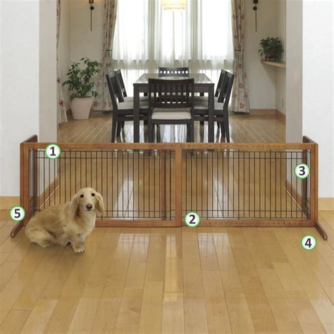 house gate for dogs freestanding pet gate dog extra wide large wood safety adjustable indoor barrier ebay