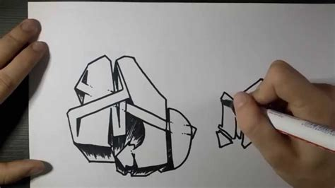 K Drawing 3d by How To Draw Graffiti Letter Quot M Quot On Paper
