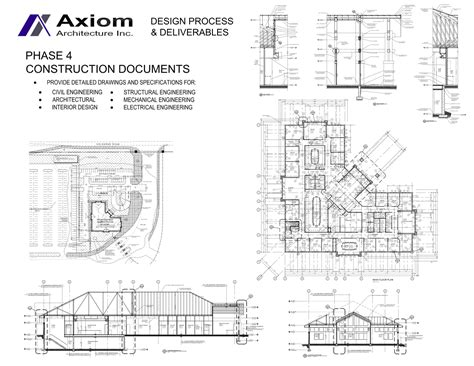 architectural specification sections axiom architecture inc phase 4 construction drawings