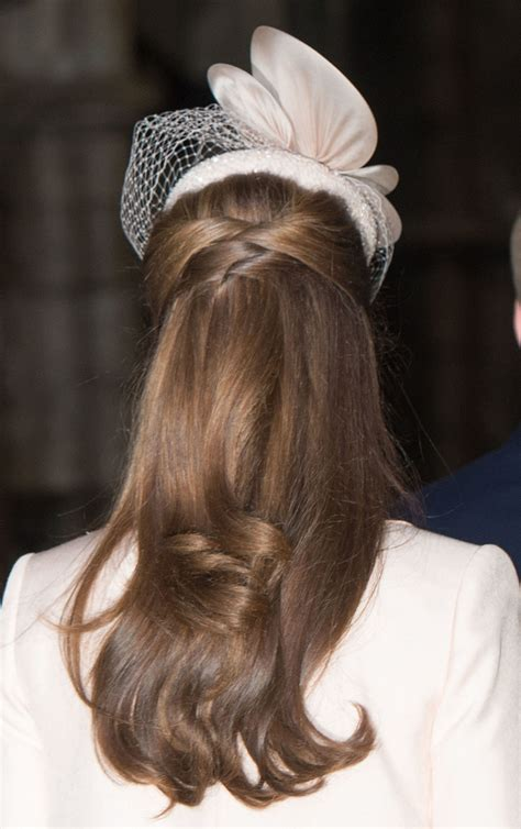 wedding hair up with hat kate middleton s half up hairstyle is pretty and