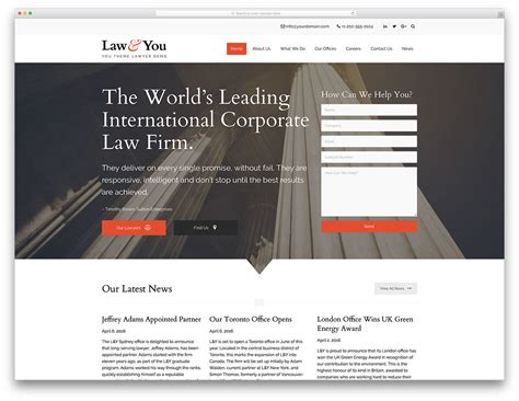 30 Best Lawyer Wordpress Themes For Law Firms And Attorneys 2018 Colorlib Lawyer Web Templates