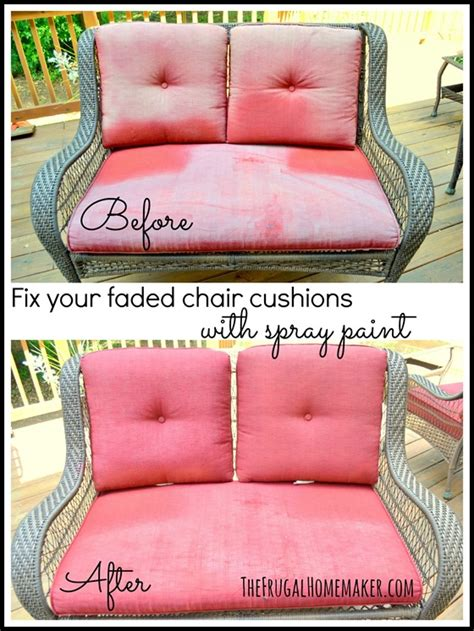 spray painting outdoor cushions fix your faded chair cushions with spray paint your best