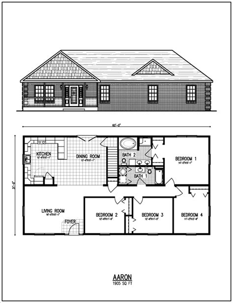 Ranch House Floor Plans by All American Homes Floorplan Center Staffordcape