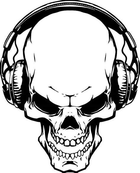 skull headphones 1 music wave listening wireless skeleton