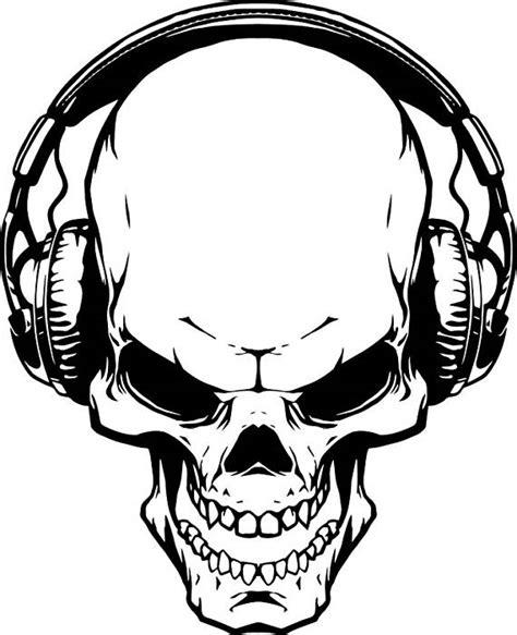 skull headphones 1 music wave listening wireless skeleton