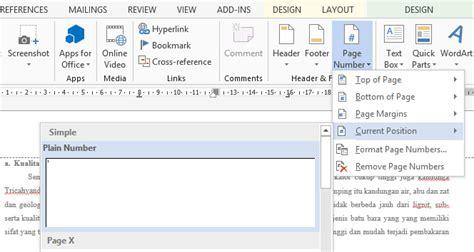 cara membuat penomoran halaman di word 2013 cara memberi penomoran halaman ganda pada satu lembar
