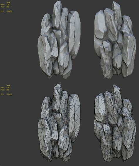 tutorial zbrush rock 48 best zbrush rocks stones images on pinterest