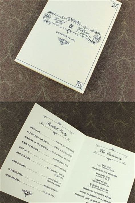 59 Best Diy Wedding Programs Images On Pinterest Diy Wedding Program Template Booklet