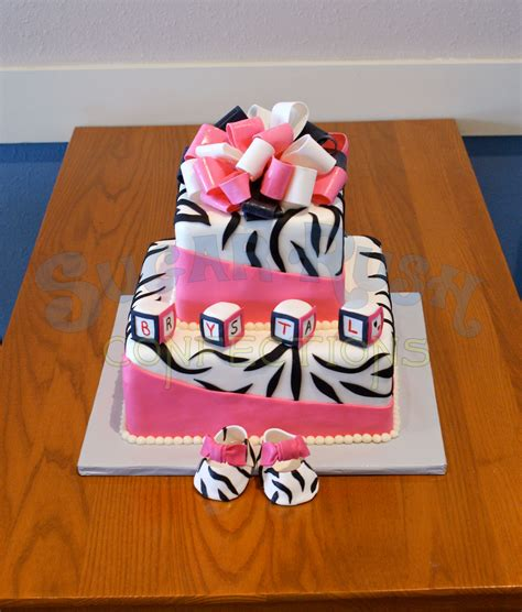 Zebra Pink Baby Shower by Pink And Zebra Baby Shower Src Baby Shower Cakes