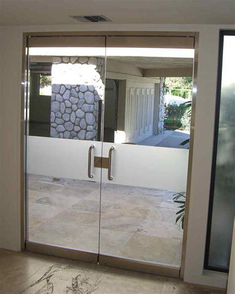 Solid Glass Doors Solid Band Frameless Glass Doors Sans Soucie