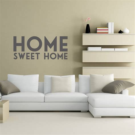 wall art ideas for sweet and unique home decor home sweet home vinyl wall sticker by oakdene designs