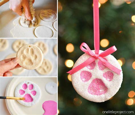 paw print salt dough ornaments   project