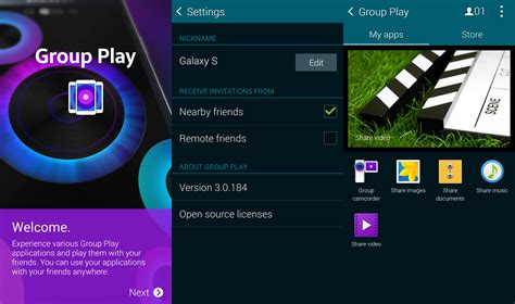 groupplay apk play updated to version 3 0 enables camcorder option on galaxy s5 sammobile