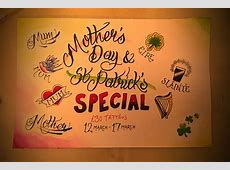 Tattos Josh: Mother's Day & St Patrick's Day What Day Of The Week Was October 8 2012