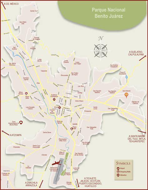 map of mexico oaxaca oaxaca city tourist map