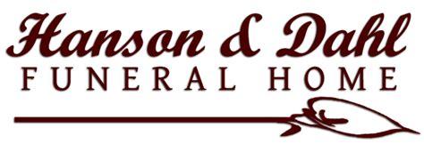 hanson dahl funeral home inc dawson mn funeral home