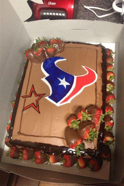 houston texansastros cake     customer   grooms cake told     wife