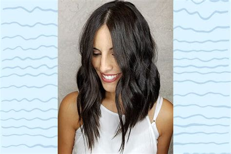 angled lob images how to style your lob in 6 different ways bebeautiful