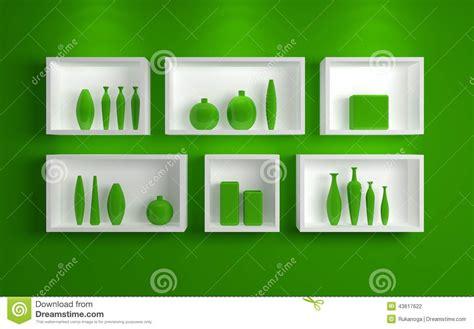 scaffali moderni mensole moderne illustrazione di stock immagine 43617622