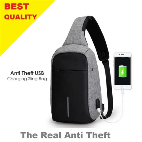 Tas Selempang Anti Maling tas selempang sling bag anti maling anti theft with usb