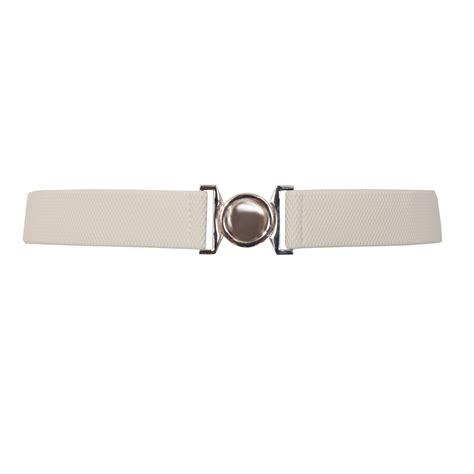 Buckle Elastic Belt plus size buckle elastic belt white evogues apparel
