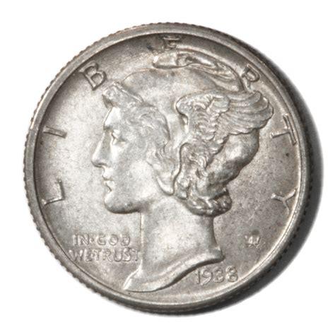usa winged liberty mercury dime 10c 1938 rich luster mint