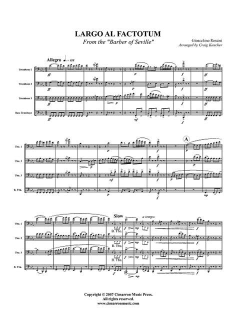 largo al factotum testo largo al factotum score sheet for piano and more