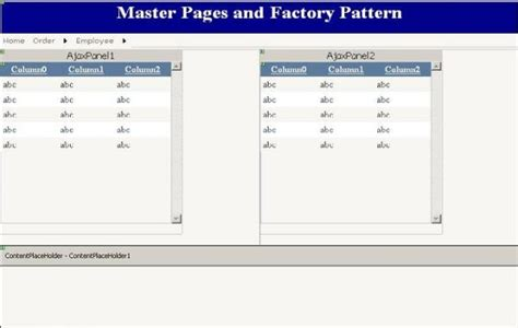factory pattern asp net master pages and factory pattern codeproject