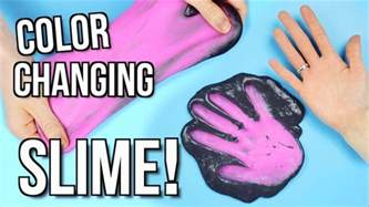 how to make color diy slime color changing slime