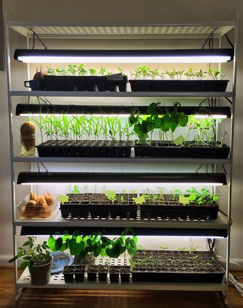 diy seed starting rack  ikea hack grow lights