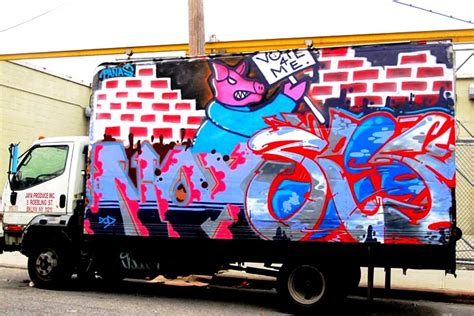 Art Stickers For Walls noxer and 3ess graffiti on nyc truck