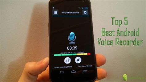 best android voice recorder top 5 best voice recorder for android