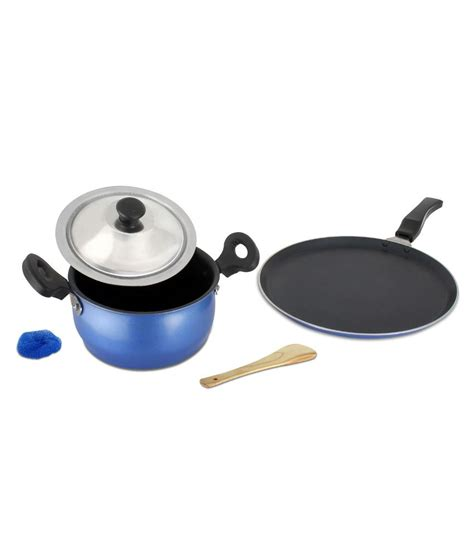 mahavir non stick induction cookware set 3 pcs buy at best price in india snapdeal