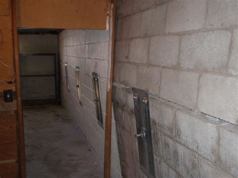 repair basement wall how to fix a basement wall that is bowing in home design