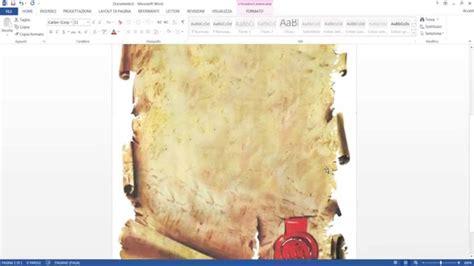 inserire cornice word creare un menu con word