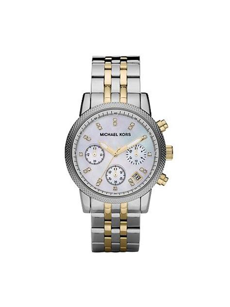 michael kors mk5057 ritz silver and gold