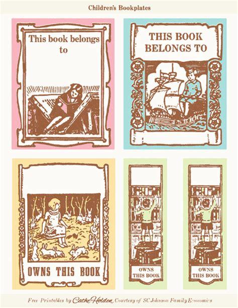 free printable bookplates templates vintage children s bookplates free printable guiltless