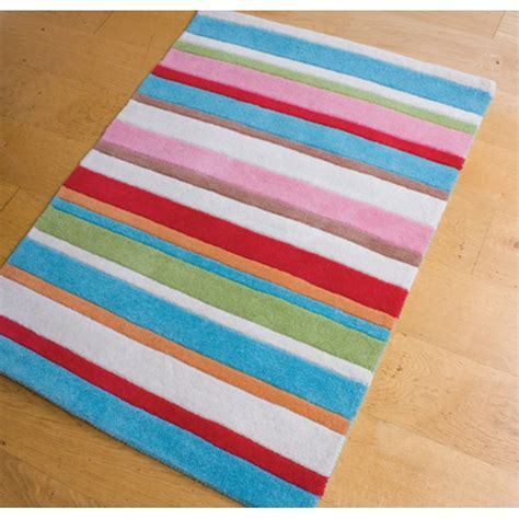 Childrens Rugs Uk by Babyface Kathy Floral Multi Coloured 90cm X 120cm Striped