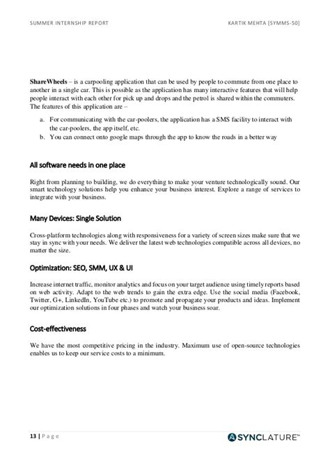cover letter sle internship report internship report sle marketing 28 images marketing