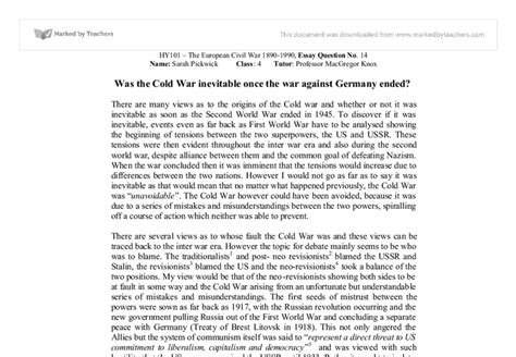 The Cold War Essay by The Cold War Essay Doing A Literature Review You