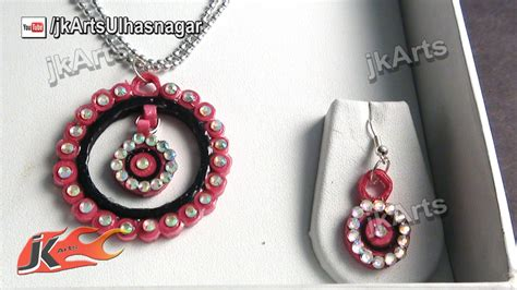paper quilling necklace tutorial diy how to make paper quilling jewelry set jk arts 379