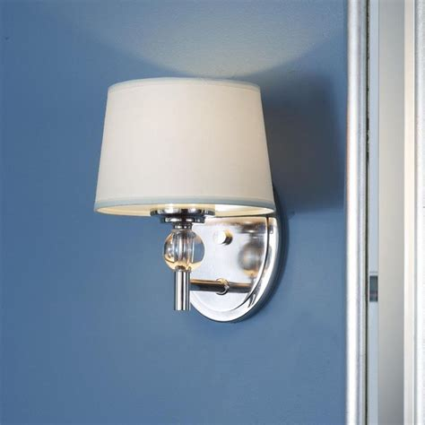 polished nickel bathroom sconces crystal accent polished nickel bath sconce