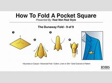 How To Fold A Pocket Square | 9 Different Ways Clip Art Hang Loose