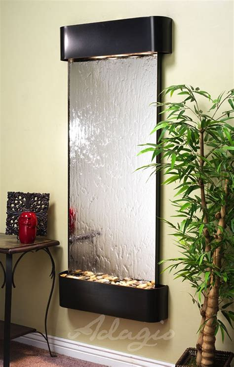 inspiration falls mirrored wall water feature indoor