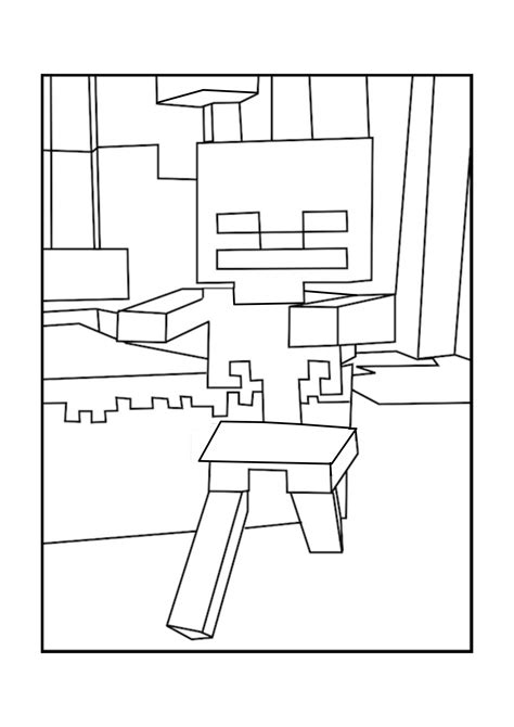 minecraft coloring pages mutant skeleton minecraft wither skeleton coloring pages www imgkid com