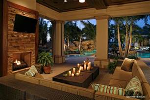 Johnnie S Design And Home Decor Florida Room Designs Pool Tropical With Outdoor Fireplace