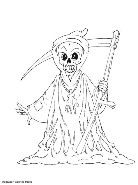 creepy coloring pages adults scary halloween coloring pages scary grim reaper