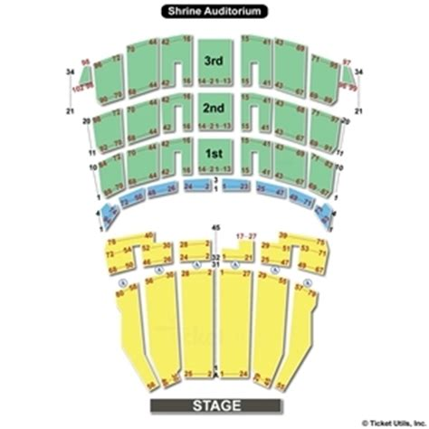 the shrine los angeles seating chart shrine auditorium los angeles seating charts
