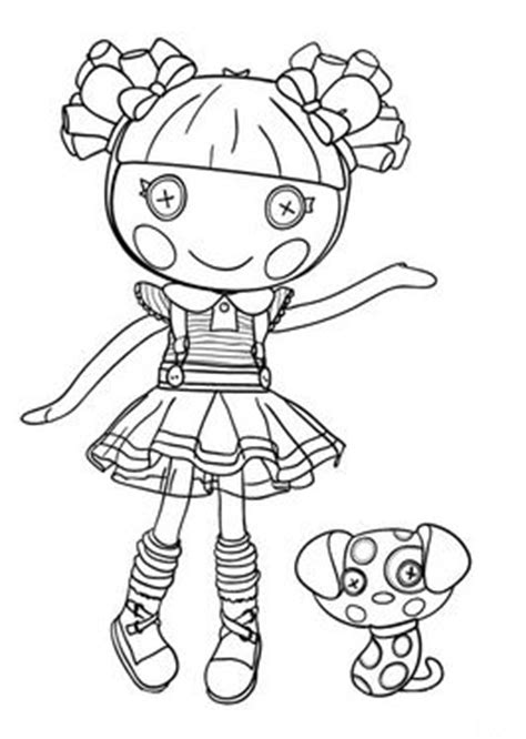 lalaloopsy coloring pages  cute dolls  pinterest